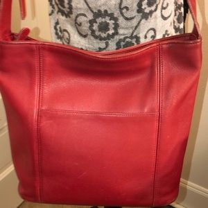 Coach Vintage Leather Shoulder Bag Good Condition